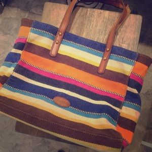 Fossil textile bag